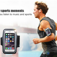 Armband husa brat / mana pt telefon alergat, bicicleta, sala pt iPhone 6 6S 7 7S - Husa Telefon, Negru