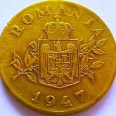 Moneda 1 Leu - ROMÂNIA, anul 1947 *cod 4228 - Moneda Romania