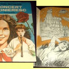 Concert pionieresc - Victoria Pieptan-Dor, ilustratii Valentin Tanase, 1989 - Carte Epoca de aur