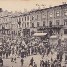 BUCOVINA, CERNAUTI PIATA 1912, EDITURA MORITZ GOTTLIEB BUCHHANDLUNG, CERNAUTI - Carte Postala Bucovina 1904-1918, Circulata, Printata