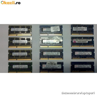Memorie laptop 1 GB DDR2 Samsung 2Rx16 PC2-5300S-555-12-E3 foto