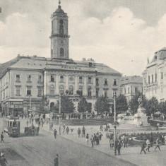 BUCOVINA   CERNAUTI   PRIMARIA   TRAMVAI ELECTRIC  TRASURI   ANIMATIE  CIRC.1928, Circulata, Printata
