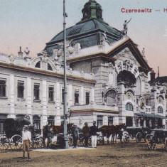 BUCOVINA, CERNAUTI, GARA PRINCIPALA - Carte Postala Bucovina 1904-1918, Necirculata, Printata