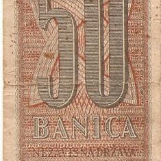 CROATIA 50 banica 1942 VF - bancnota europa
