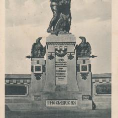 BUCOVINA, CERNAUTI, MONUMENTUL UNIRII 11 NOIEMBRIE 1924 - Carte Postala Bucovina dupa 1918, Necirculata, Printata