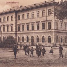 BUCOVINA, CERNAUTI, UNIVERSITATEA, EDITURA G. HUTTER, CERNAUTI - Carte Postala Bucovina dupa 1918, Circulata, Printata