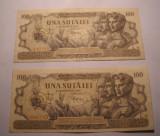 100 lei 1947 Serii Consecutive XF