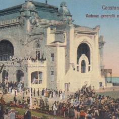 CONSTANTA, VEDEREA GENERALA A CAZINOULUI, CIRCULATA, EDITURA G.T., CONSTANTA - Carte Postala Dobrogea dupa 1918, Printata