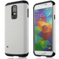 Husa Galaxy S5 / S5 NEO Samsung SLIM ARMOR + Folie display GRATIS - Husa Telefon, Samsung Galaxy S5, Alb, Gel TPU, Fara snur, Carcasa