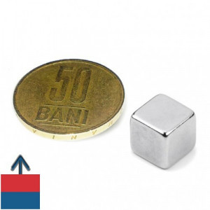 Magnet neodim puternic cub 10 mm N52 ndfeb neodymium