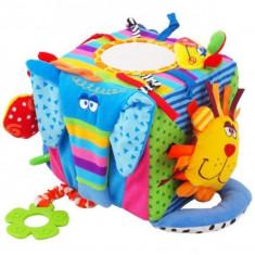 Cub Cu Activitati Multiple Happy Animals - Jucarie zornaitoare Baby Mix