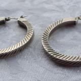 Cercei argint rotunzi Clasici executati manual Vintage Eleganti de Efect