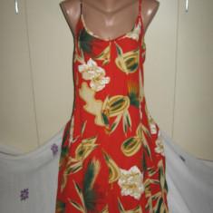 Rochie Giani Peroti cu bretele Mar 40 - Rochie de zi, Culoare: Multicolor, Midi, Vascoza