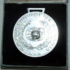 PLACHETA / MEDALIE CAMPIONATUL MONDIAL DE BOX TINERET - 1985