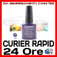 OJA SEMIPERMANENTA (PERMANENTA) ELEGANT PURPLE #125 CANNI - MANICHIURA UV, Metalic