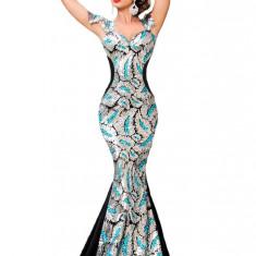K474 Rochie eleganta tip sirena, decorata cu paiete - Rochie de seara, Marime: M, M/L, Din imagine, Maxi