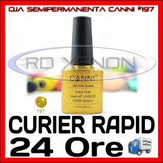 OJA SEMIPERMANENTA (PERMANENTA) BEAUTY GOLD #197 CANNI - MANICHIURA UV, Metalic
