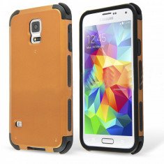 Husa Galaxy S5 / S5 NEO Samsung ARMOR aurie + Folie display GRATIS - Husa Telefon, Samsung Galaxy S5, Auriu, Gel TPU, Fara snur, Carcasa