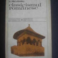 D. PACURARIU - CLASICISMUL ROMANESC