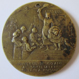 MEDALIA JUBILEUL DE 60 ANI AL SOCIETATEI TINERIMEA ROMANA 1878-1938