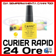 OJA SEMIPERMANENTA (PERMANENTA)  YELLOW  #001 CANNI - MANICHIURA UV