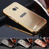 Cumpara ieftin Husa / Bumper aluminiu + spate acril oglinda pentru HTC 10, Alt model telefon HTC, Auriu