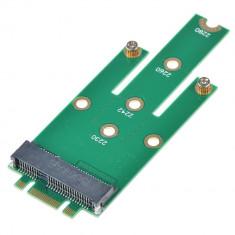 Adaptor convertor SSD mSATA Mini PCI-E la NGFF M.2 B + M Key tata pt laptop, PC - Adaptor interfata PC