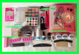 Kit set unghii gel - lampa UV,pila,cleste,tipsuri,12 geluri color  - KIT SINA