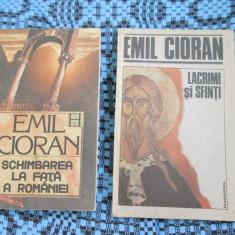 Emil CIORAN - SCHIMBAREA LA FATA A ROMANIEI + LACRIMI SI SFINTI (OFERTA PACHET!) - Carte Filosofie