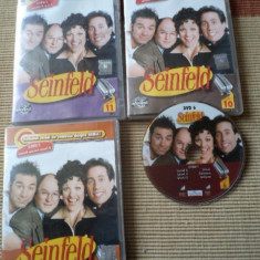 SEINFELD DVD vol 1, 5, 6, 10, 11 vol 6 fara carcasa serial comedie - Film comedie, Romana