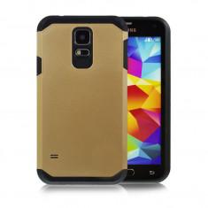 Husa gold ARMOR Galaxy S5 Samsung S5 NEO + Folie display GRATIS - Husa Telefon, Samsung Galaxy S5, Auriu, Gel TPU, Carcasa