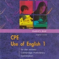CPE Use of English 1- Manualul elevului Virginia Evans Express Publishing - Certificare