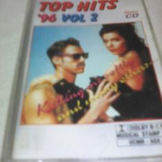 CASETA AUDIO TOP HITS 96 VOL 2 ORIGINALA - Muzica Dance, Casete audio