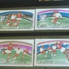 Korea 1978 - CM FOTBAL ARGENTINA, serie stampilata AC100 - Timbre straine