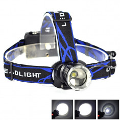 Lanterna Frontala cu MEGA Zoom si Led CREE T6 SUA  Gama POLICE NOU