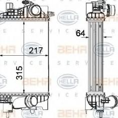 Intercooler, compresor OPEL MERIVA B PRODUCATOR HELLA 8ML 376 756-411