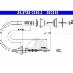 Cablu ambreiaj PEUGEOT BOXER bus 230P PRODUCATOR ATE 24.3728-0519.2 - Kit ambreiaj