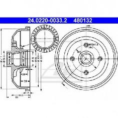 Tambur frana OPEL CORSA B 73 78 79 PRODUCATOR ATE 24.0220-0033.2