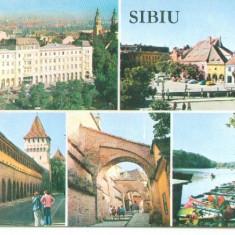SIBIU - Carte Postala Transilvania dupa 1918, Circulata, Fotografie