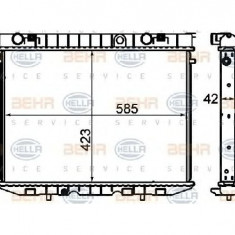 Radiator, racire motor OPEL FRONTERA A 5 MWL4 PRODUCATOR HELLA 8MK 376 705-621
