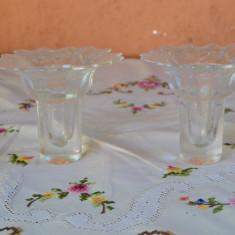 FRUMOASE DOUA SFESNICE PERECHE DIN STICLA SUPERIOARA, GOEBEL L 40