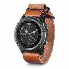 GARMIN Ceas Garmin Fénix 3 sport, Sapphire Grey Leather - Smartwatch