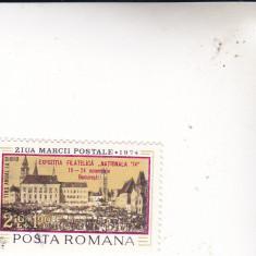 Timbre st din Romania ziua marci postale SUPRATIPAR - Timbre Romania, Stampilat