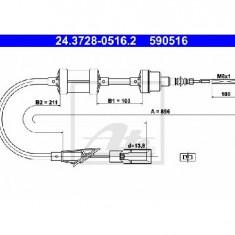 Cablu ambreiaj FIAT PUNTO 176 PRODUCATOR ATE 24.3728-0516.2 - Kit ambreiaj