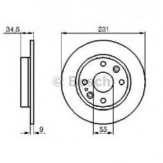 Disc frana MAZDA 323 S Mk IV BG PRODUCATOR BOSCH 0 986 478 242 - Discuri frana