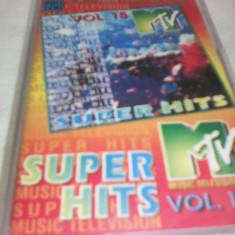 CASETA AUDIO SUPER HITS MTV VOL 15 ORIGINALA - Muzica Dance, Casete audio