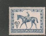 Austria 1947 - CAI DE RASA, HIPISM, timbru nestampilat, AC8