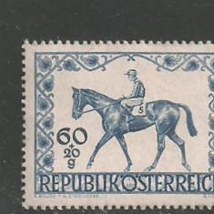 Austria 1947 - CAI DE RASA, HIPISM, timbru nestampilat AC131