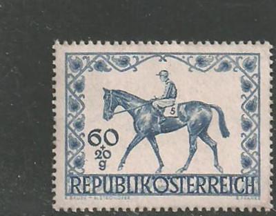 Austria 1947 - CAI DE RASA, HIPISM, timbru nestampilat AC131 foto