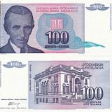 IUGOSLAVIA 100 dinara 1994 UNC!!! - bancnota europa